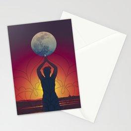 Lua cheia em peixes  Stationery Cards
