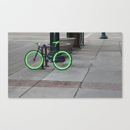 Bicycle Pose Canvas Print