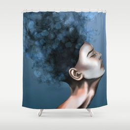 """OCD: """"Intrusive Thoughts"""" Shower Curtain"""