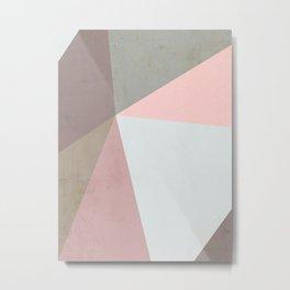 Delicate Geometry Metal Print