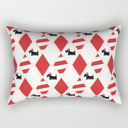 Scottie Dog Christmas Pattern Rectangular Pillow