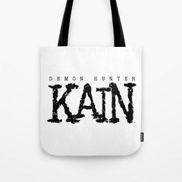Demon Hunter Kain Black Logo Tote Bag
