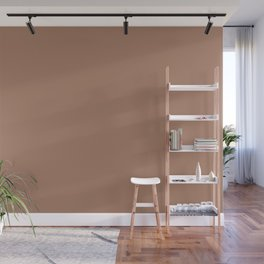 Dark Pastel Rum Solid Color Pairs With Behr Paint's 2020 Forecast Trending Color Cinder Spice S210-5 Wall Mural
