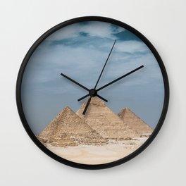 Giza Pyramid Complex Wall Clock