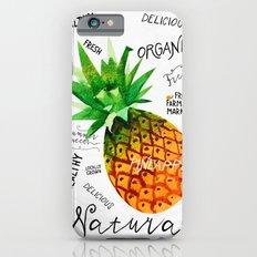Watercolor pineapple Slim Case iPhone 6s