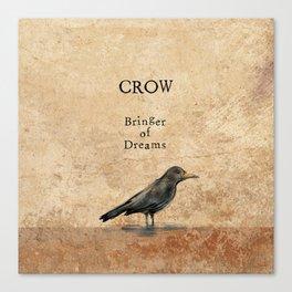 Crow, Message Bringer Canvas Print
