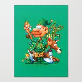 Elf Walter - Ornaments & Decorations Department Canvas Print