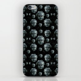 Evil Child Expression Pattern iPhone Skin