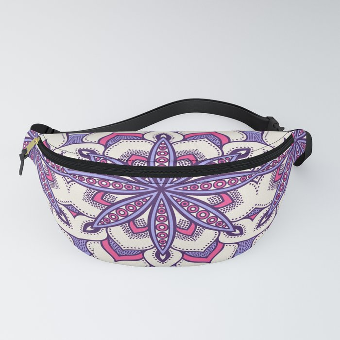 Flower Mandala Pattern Pink Lavender Fanny Pack