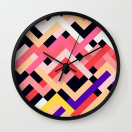 Coral&Black No. 1 Wall Clock
