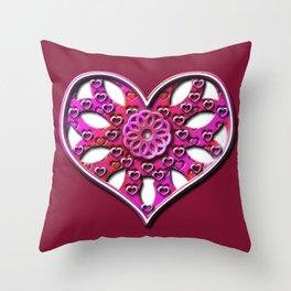 Raise Heart Valentine Throw Pillow
