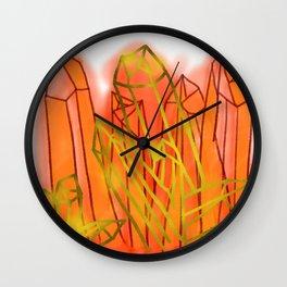 Crystals - Orange Wall Clock
