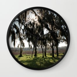 Long Shadows of the Cypress Wall Clock