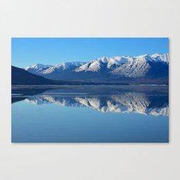 Turnagain Arm Mirror - Alaska Canvas Print