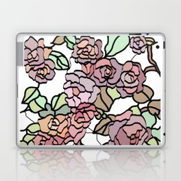 pattern of branches and roses 2 .  Pastel colors . Laptop & iPad Skin