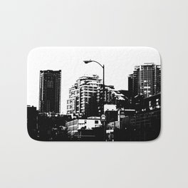 99 North in Black and White Bath Mat