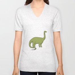 Brontosaurus Mono Line Unisex V-Neck