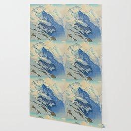 The Jungfrau Vintage Beautiful Japanese Woodblock Print Hiroshi Yoshida Wallpaper