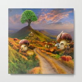 Hidden Village Metal Print