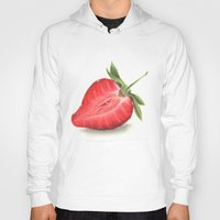 strawberry Hoodies featuring Strawberry by Sam Luotonen