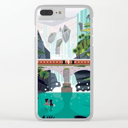 Dhudsagar waterfalls ft. Cute couple Clear iPhone Case