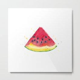 Mouth Watering Watermelon Metal Print