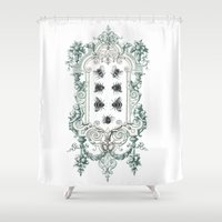 bees Shower Curtains featuring Bees by Heidi Ball