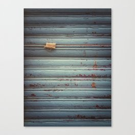 Closed shutter Canvas Print