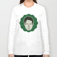 mulder Long Sleeve T-shirts featuring Fox Mulder by Kuki