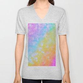 Rainbow Bubble Pop Unisex V-Neck
