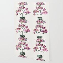 Bonsai Tree – Fuchsia Palette Wallpaper