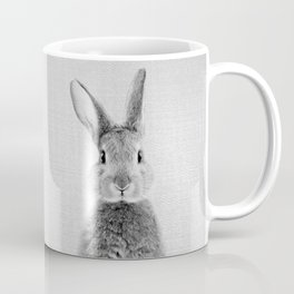 Rabbit - Black & White Coffee Mug