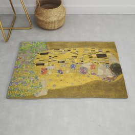 The Kiss by Gustav Klimt Rug