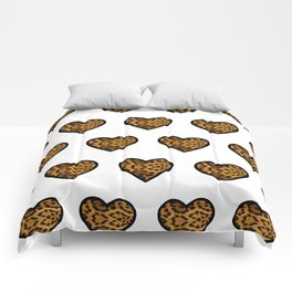 Baesic Leopard Hearts Comforters