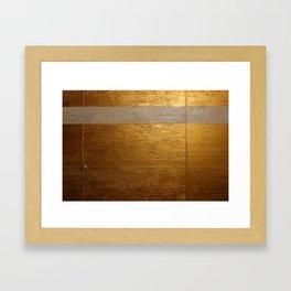 Dariusz Stolarzyn Gold and White Oil Painting Framed Art Print