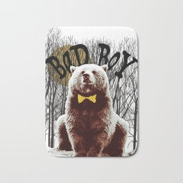 Bad Boy Bear Bath Mat