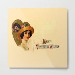 Best Vintage Valentine Wishes Metal Print