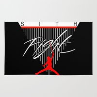 sith Area & Throw Rugs featuring Sith Fight 1 by Ant Atomic