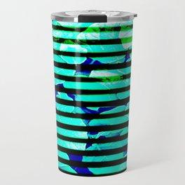 leaf print stripe Travel Mug