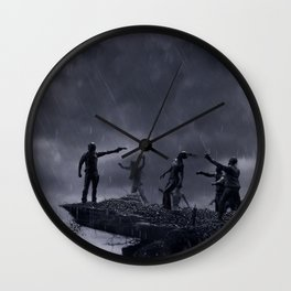TWD Zombie Cliffhanger Wall Clock