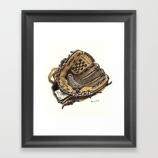 Baseball Glove Framed Art Print
