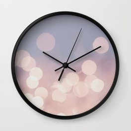 Pink Blurry Circles (Color) Wall Clock