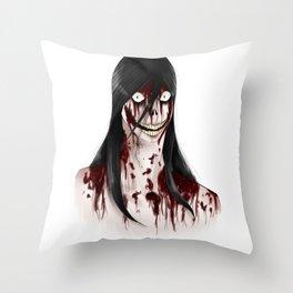 Jeff the Killer Throw Pillow