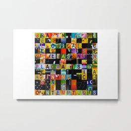 RELENTLESS 01 Metal Print