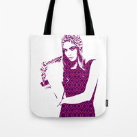 cara delevingne Tote Bags featuring Cara Delevingne by fashionistheonlycure