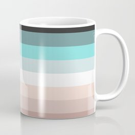 Charcoal, blue and pink pastel blend Coffee Mug