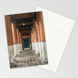 Door between the columns Stationery Cards