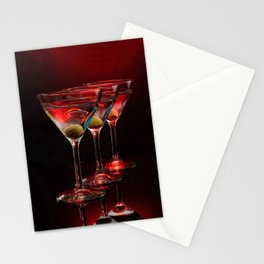 Red hot martinis. Stationery Cards