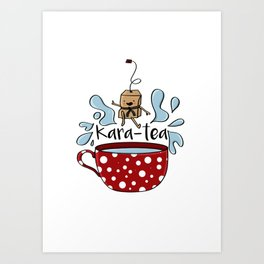Karate Kara Tea Teabag Present Gift Cup Art Print