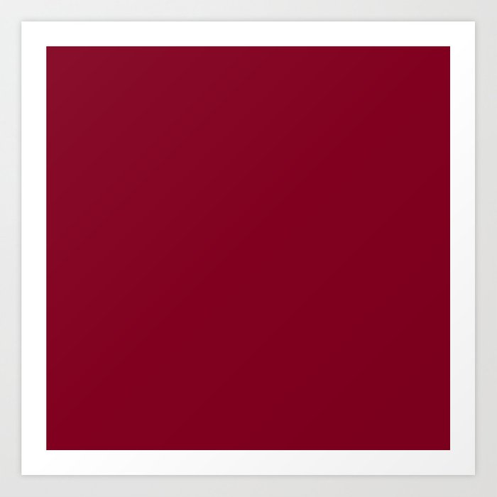 80e596271db1f Solid Color Series - Burgundy Red Art Print by lena127 | Society6